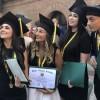 """Verona, Graduation Ceremony per la consegna degli High School Diploma americani: Martina, Letizia, Elena e Tommaso i nostri """"graduate students"""""""