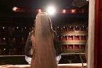 Francesca e Nicolò, i nostri due studenti protagonisti del cortometraggio sulla riapertura del Teatro Donizetti