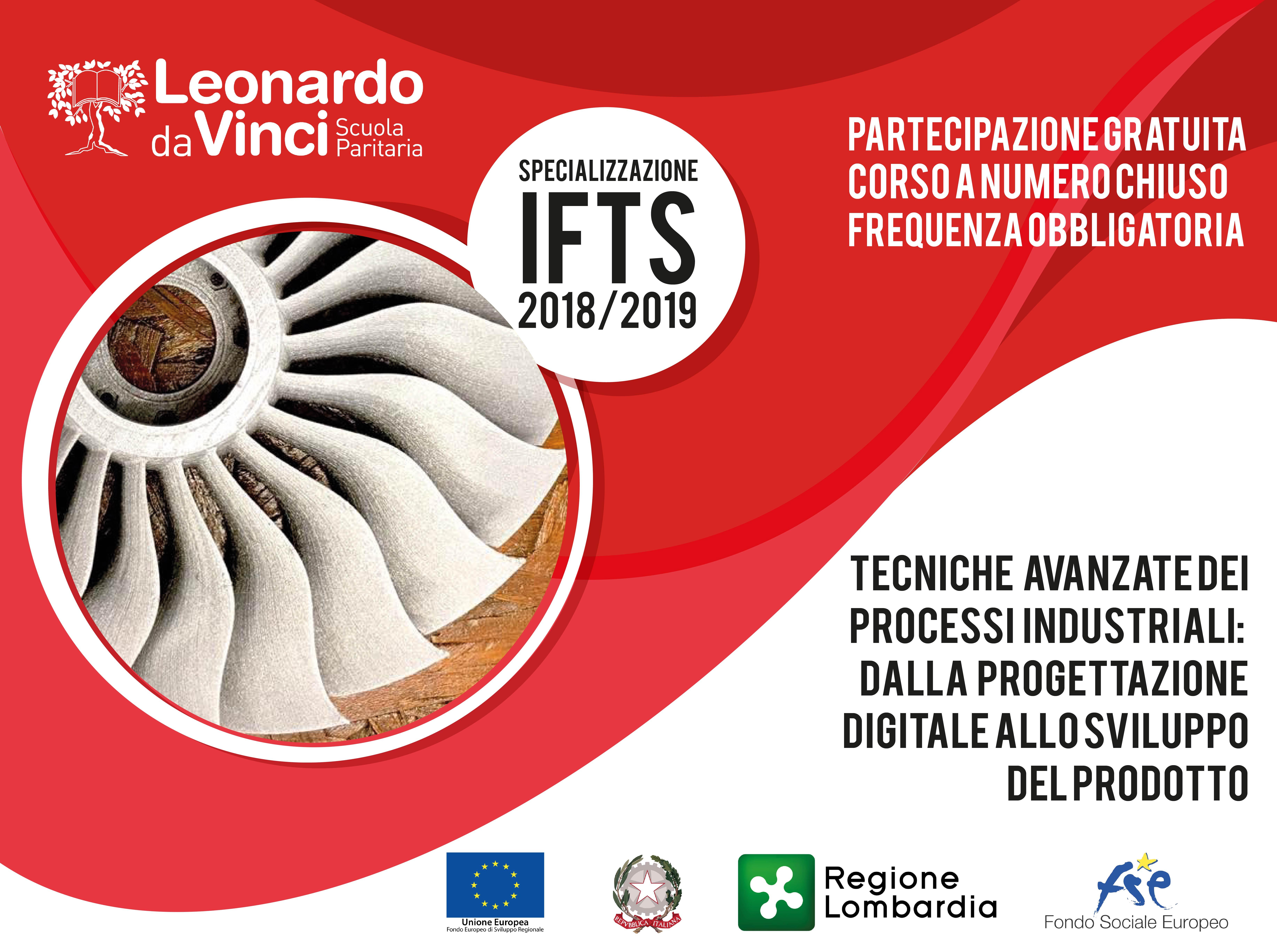 """Specializzazione IFTS 2018-19 """"Tecnico di Industrializzazione del prodotto e del processo"""": aperte le iscrizioni"""